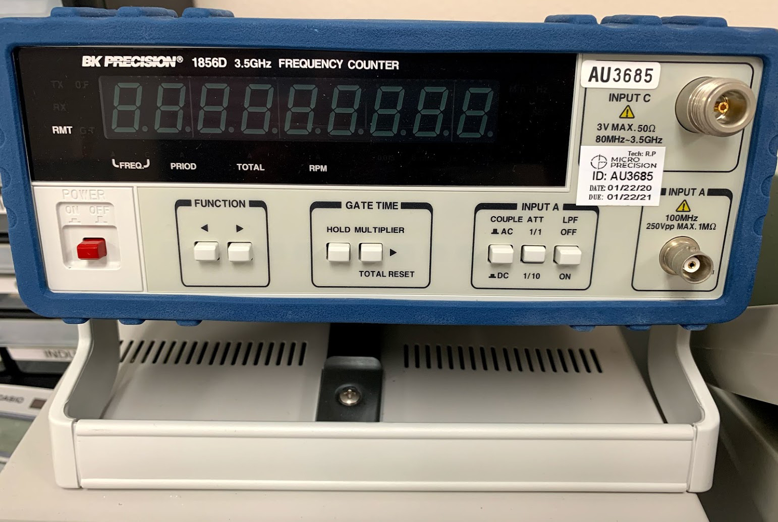 Low-power-electrical-BK-Precision-Frequency-Counter