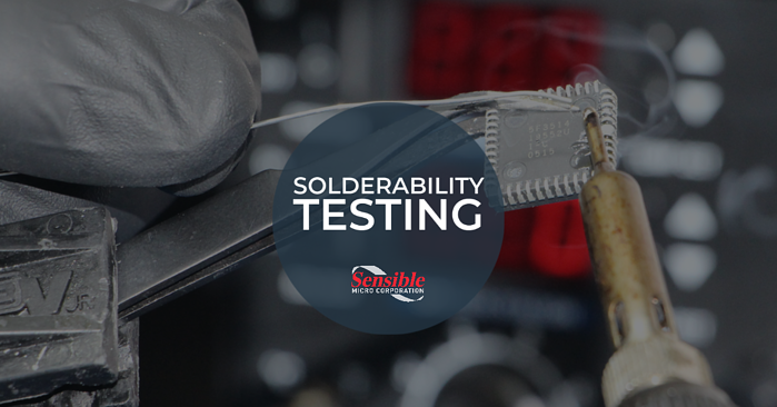 Solderability testing for electronic components
