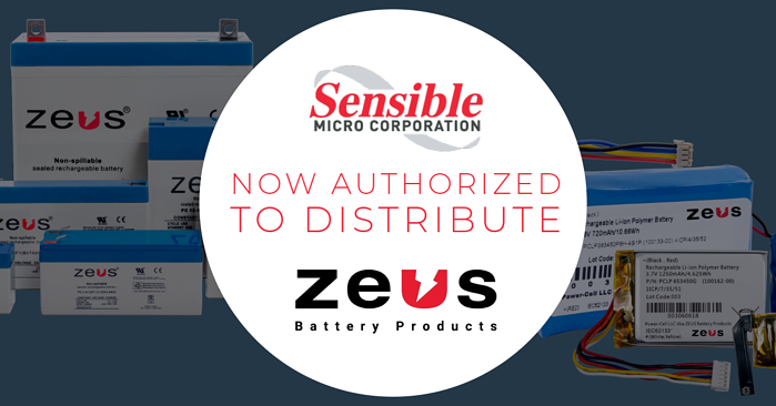 Sensible Micro's Newest Authorized Line, Zeus Battery Products